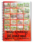 House Rendering Card Spiral Notebook