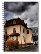 House With Storm Approaching Spiral Notebook
