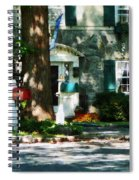 House With Turquoise Shutters Spiral Notebook