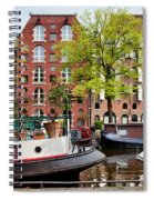 Houseboats And Houses On Brouwersgracht Canal In Amsterdam Spiral Notebook