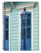 Houses Along A Street, French Quarter Spiral Notebook