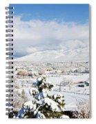 Houses And Trees Covered With Snow Spiral Notebook