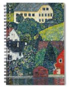 Houses At Unterach On The Attersee Spiral Notebook