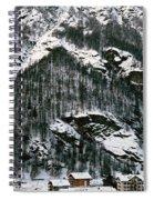 Houses In A Village In Winter, Tasch Spiral Notebook