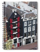 Houses In Amsterdam From Above Spiral Notebook