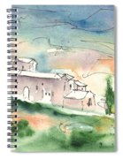 Houses In Montepulciano In Tuscany 02 Spiral Notebook