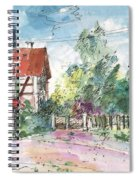 Houses In Soufflenheim Spiral Notebook