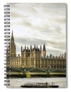 Houses Of Parliament On The Thames Spiral Notebook