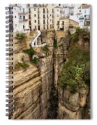 Houses On A Rock In Ronda Spiral Notebook