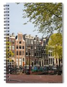 Houses On Singel Canal In Amsterdam Spiral Notebook