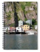 Houses With Expressive Brushstrokes Spiral Notebook