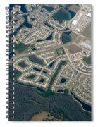Housing Development Near Wetland Spiral Notebook