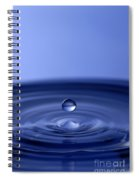 Hovering Blue Water Drop Spiral Notebook
