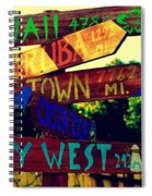 How Far Is It To Key West Spiral Notebook