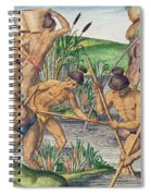 How The Indians Collect Gold From The Streams Spiral Notebook
