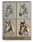 How To Draw A Horse Portrait Spiral Notebook