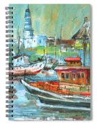 Howth Harbour 01 Spiral Notebook