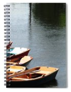 Hoyt Lakes Rowboats In Delaware Park Buffalo Ny Oil Painting Effect Spiral Notebook