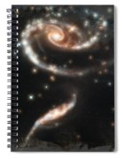 Hubble - Rose Made Of Galaxies Spiral Notebook