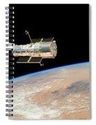 Hubble  Telescope  In  Orbit  Above  Earth Spiral Notebook