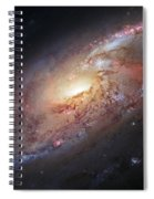 Hubble View Of M 106 Spiral Notebook