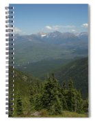 View Of The Rockies From Huckleberry Mountain Glacier National Park Spiral Notebook