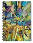 Hues And The Blues Spiral Notebook