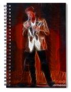 Huey Lewis-fractal Spiral Notebook