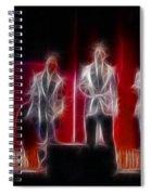 Huey Lewis-ga11a-fractal Spiral Notebook