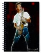 Huey Lewis--johnny-ge2a-fractal Spiral Notebook