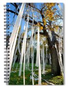 Huge Tree Covered In Toilet Paper Spiral Notebook