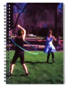 Hula Digital Art By Cathy Anderson Spiral Notebook