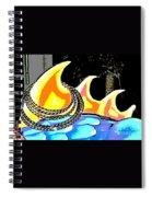 Hula Monster Fins Spiral Notebook