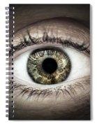 Human Eye Macro Spiral Notebook