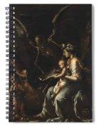 Human Frailty, C.1656 Spiral Notebook
