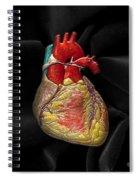 Human Heart On Black Velvet Spiral Notebook