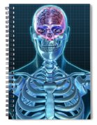 Human Skeleton And Brain, Artwork Spiral Notebook