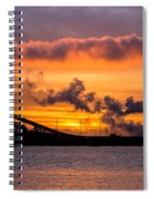 Humboldt Bay Industry At Sunset Spiral Notebook