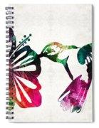 Hummingbird Art - Tropical Chorus - By Sharon Cummings Spiral Notebook