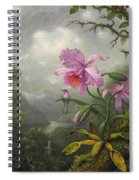 Hummingbird Perched On The Orchid Plant Spiral Notebook