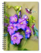 Hummingbirds Butterflies And Flowers Spiral Notebook