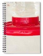 Hummingbirds Feeding Spiral Notebook
