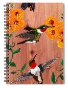 Hummingbirds On Cedar Spiral Notebook