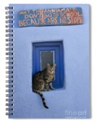 Humorous Cat Sign Spiral Notebook