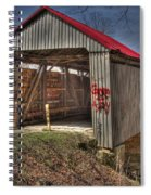Artistic Humpback Covered Bridge Spiral Notebook