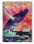 Humpback Whale Digital Color Spiral Notebook
