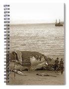 Humpback Whale On A Monterey Beach California  Circa 1896. Spiral Notebook