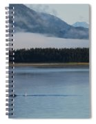 Humpback Whales And Alaskan Scenery Spiral Notebook