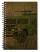 Humvee Midnight Desert  Spiral Notebook