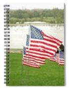 Hundreds Of American Flags September 11 Memorial In Saint Louis Missouri Spiral Notebook